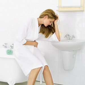 pregnant woman suffering from morning sickness