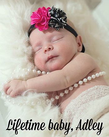 Baby Adley, who was adopted through Lifetime Adoption
