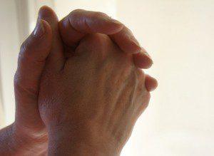 hands held in prayer