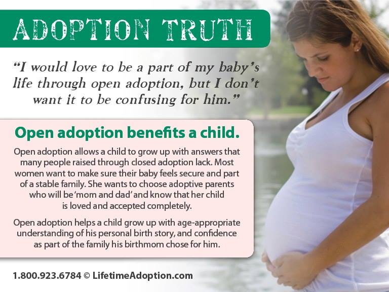 Adoption truth graphic with photo of pregnant woman