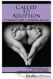 Called to Adoption book cover with Kindle graphic