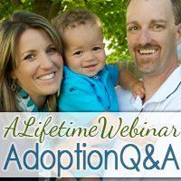 A Lifetime Webinar: Adoption Q&A graphic