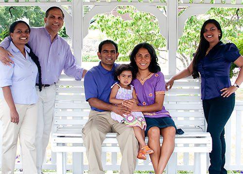 Alex and Raz with family