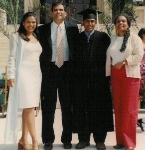 Family photo at the CSUN graduation