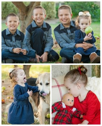 Photo collage of Casey and April's children