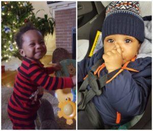 Adoptive mother Natacha's son