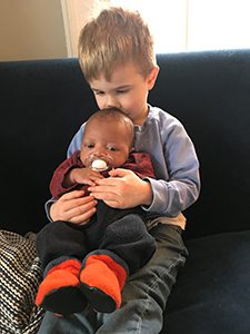 Big brother and his new baby brother