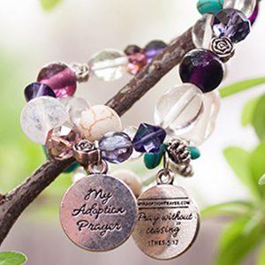 adoption prayer bracelet