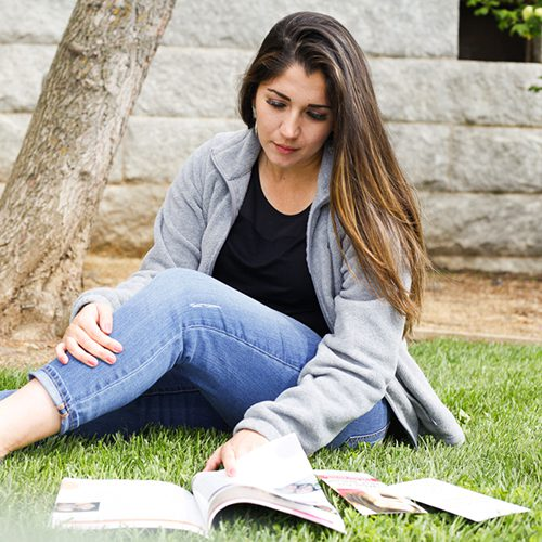 Pregnant woman thinking about adoption to a family
