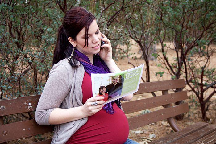 Hispanic pregnant woman