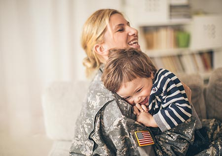 Military adoptive mom