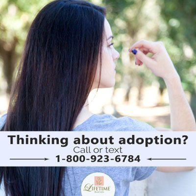 Call or text Lifetime Adoption for answers to your adoption questions