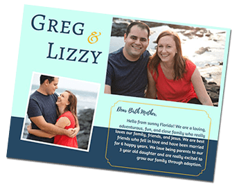 Greg and Lizzy's adoption profile