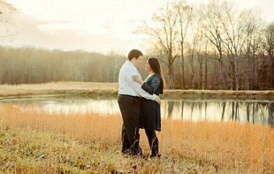 Jacob and Bri by their pond