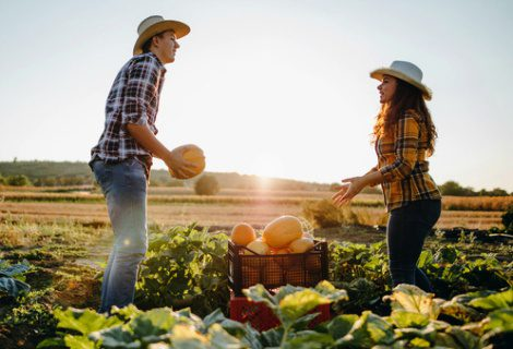 adoptive couple at a pumpkin patch