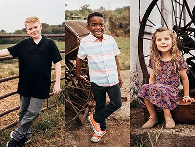 Dustin and Tami's children, all of whom joined the family through domestic adoption!