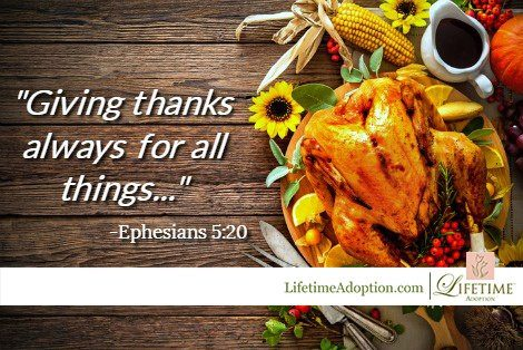 Thanksgiving blessings from Lifetime Adoption