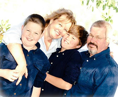 Heather Featherston with her family