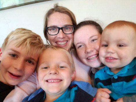 Erin with her four children