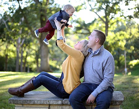 Family built with the help of Lifetime Adoption resources and articles laughs together