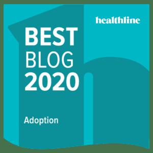 Healthline Adoption Badge for Best Blog