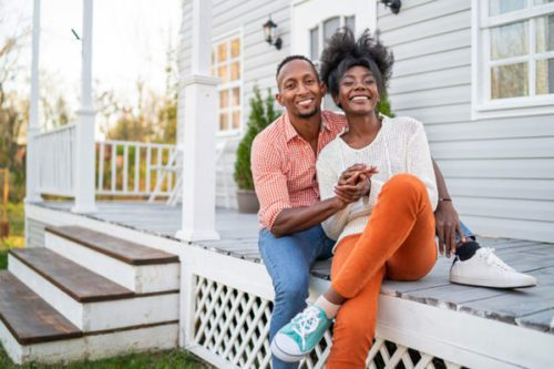Couple on porch for home study