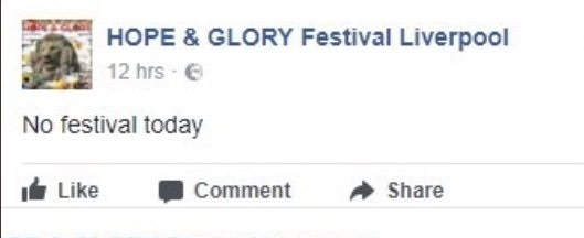 no festival today hope and glory liverpool
