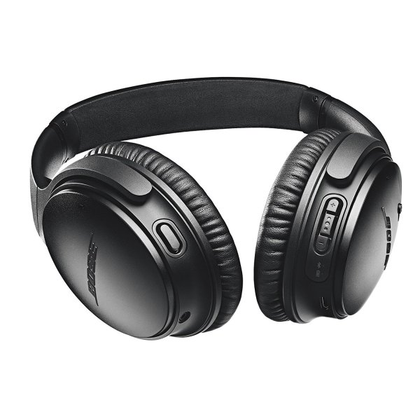 Bose QuietComfort 35 Wireless Travel Headphones bottom buttons