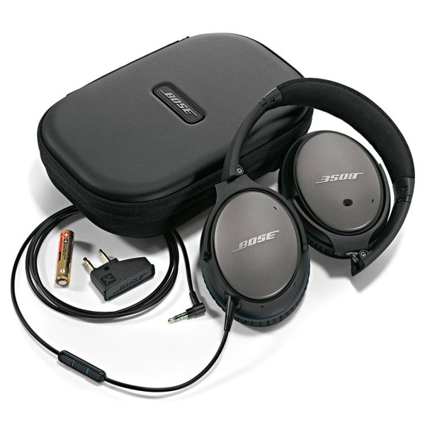 bose quietcomfort 25 travel headphones kit