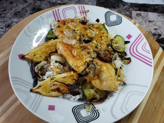 Lemon-Dijon Chicken with Rice 1