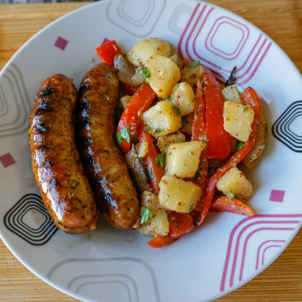 Spicy Andouille Sausage and Peppers wine pairing