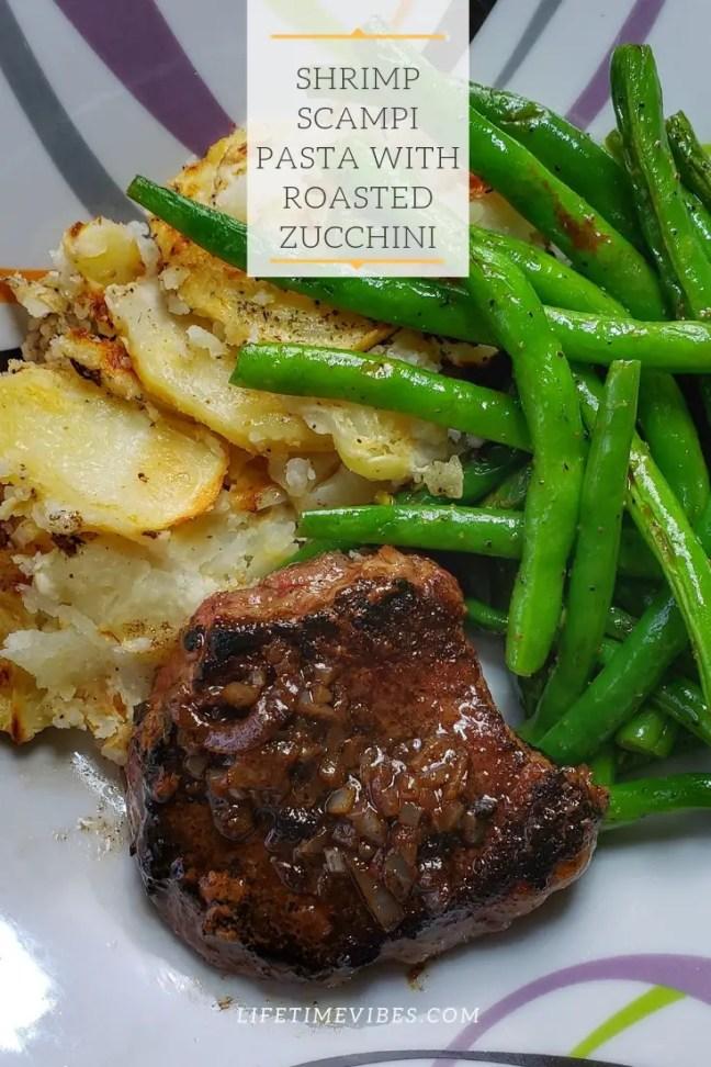 pan seared sirloin steak with Green Beans