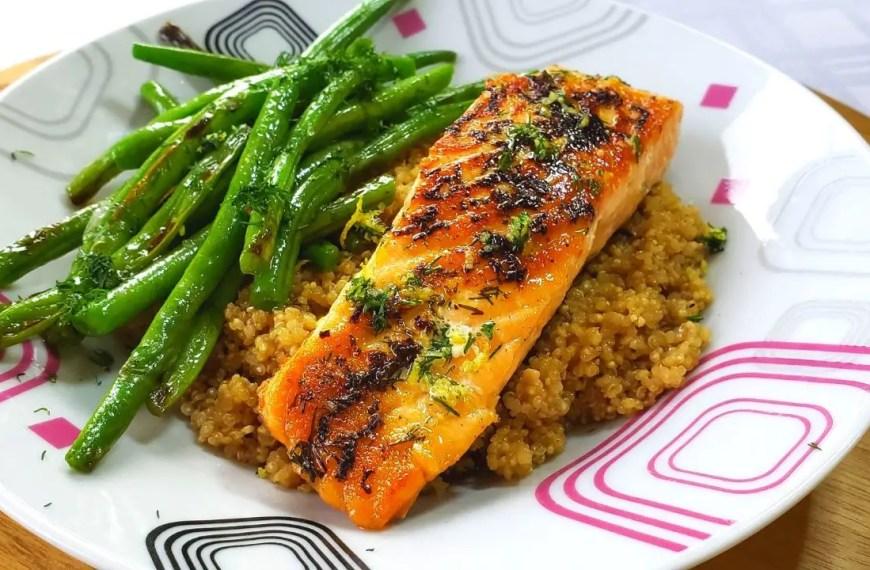 Tasty Lemon & Dill Salmon with Quinoa