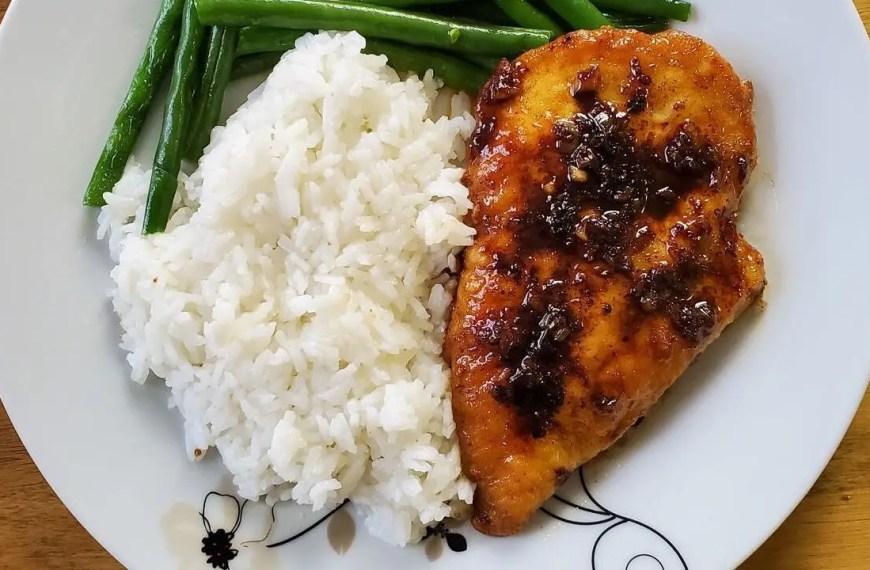 Garlic Tamari Chicken with Sauteed Green Beans