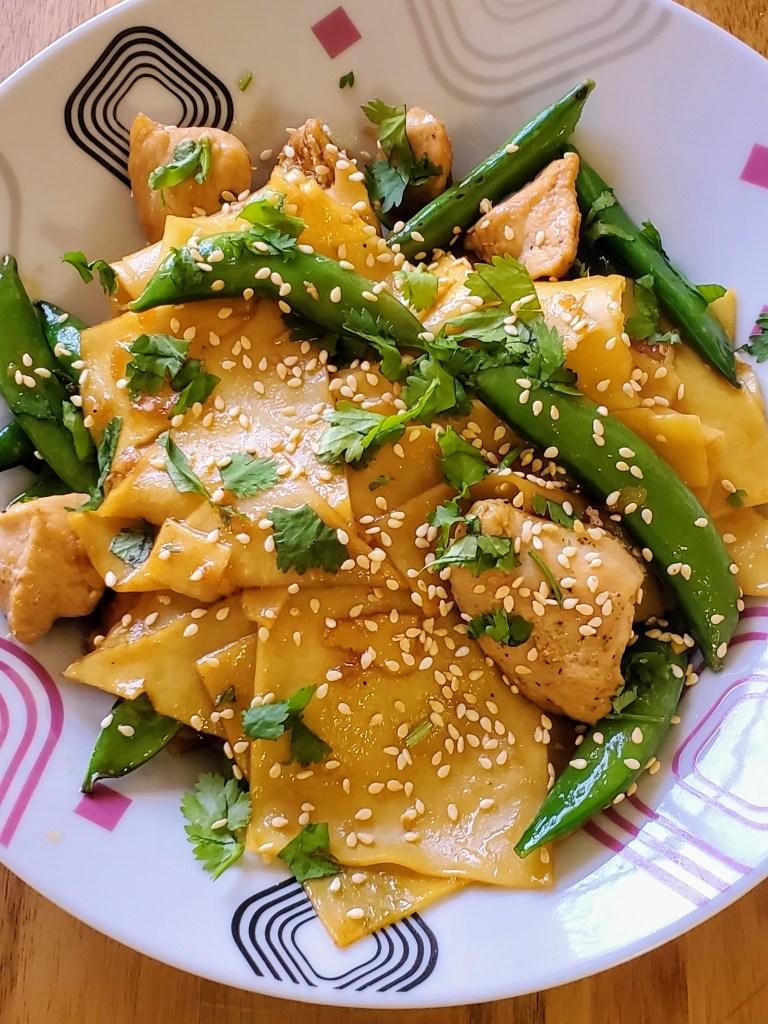 Chicken Wonton Stir-Fry
