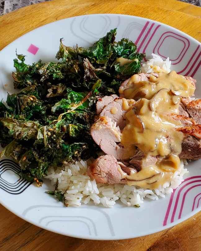 Miso Shiitake Butter Roast Pork Tenderloin