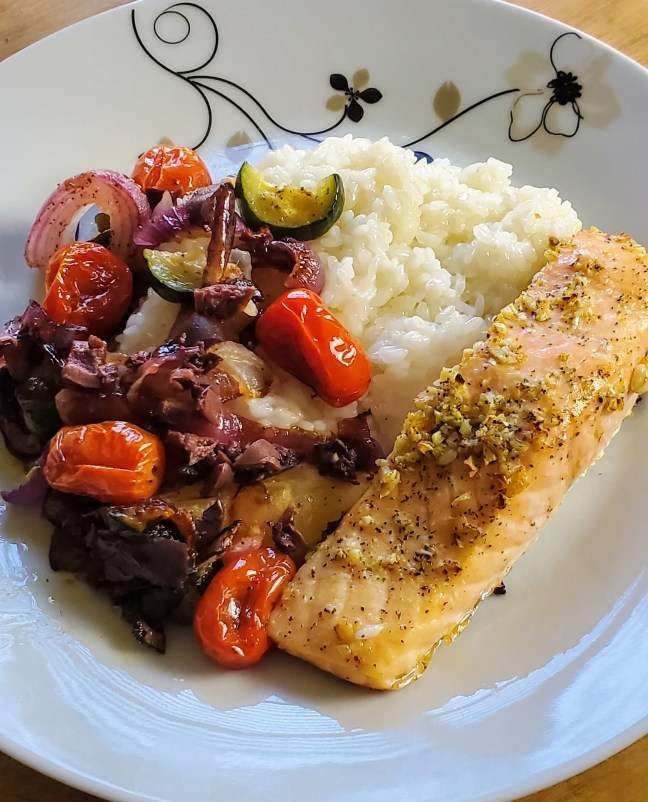Salmon Provençal with Tomatoes