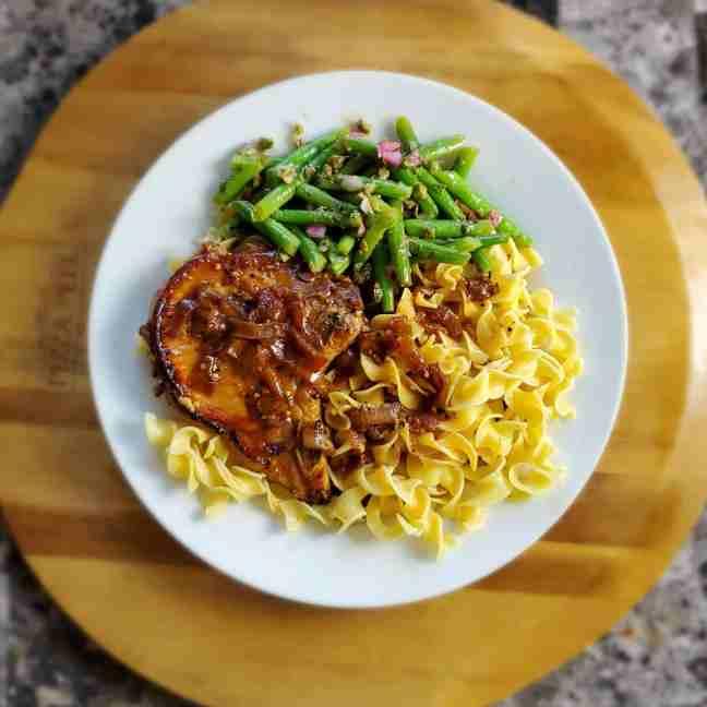 Caramelized Onion Pork Chop