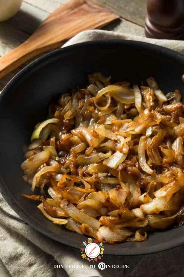 sauté onions with less oil?