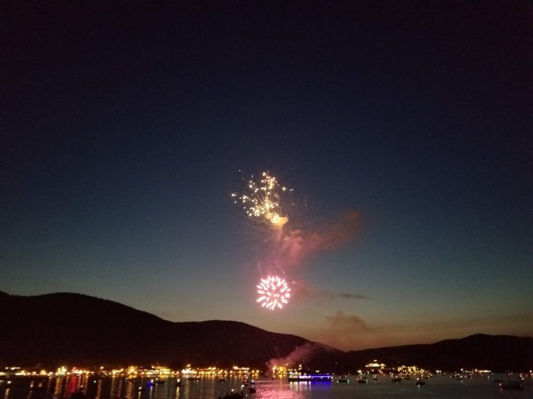 4th of July Fireworks at Lake George, NY