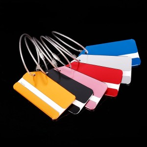 OKOKC Aluminium Alloy Luggage Tags Baggage Name Tags Suitcase Address Label Holder Travel Accessories