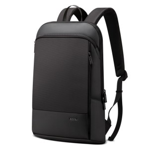 Leather Travel Backpack Waterproof Slim Laptop 15.6 inch