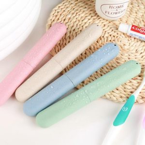 Travel Accessories Toothbrush Tube Cover Case Cap Fashion Plastic Suitcase Holder Baggage Boarding Portable Packing organizer
