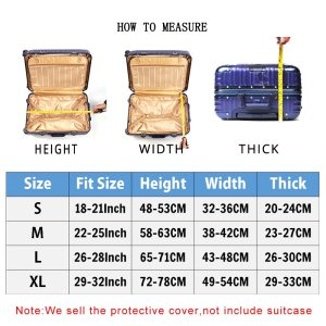 World Map Travel Luggage Suitcase Protective Cover Trolley Baggage Bag Cover Men's Women's Thick Elastic Case For Suitcase 272-in