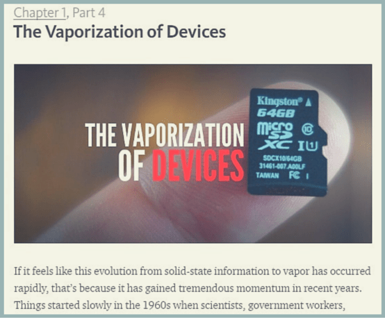Vaporized Book publishing innovation