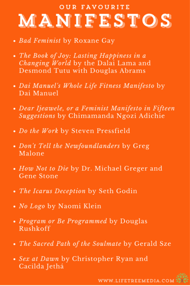 favourite manifestos passion project books change the world