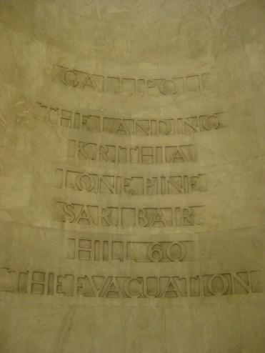 Anzac inscription