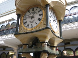 Upon closer inspection, there's an intricate level of detail in the clock. Check out the little figurines