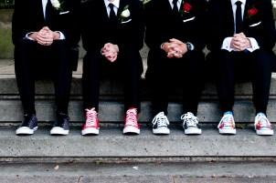 Our iconic converse weddings (idea stolen from Kiera's wedding earlier that summer)