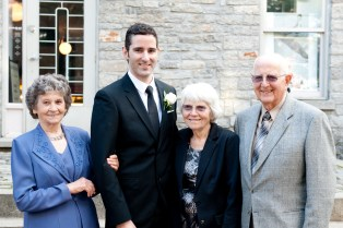 B and the grandparents. We're still not sure where the tall genes came from